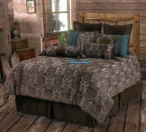 Good Image Is Loading Western Rustic Country Fleur De Lis Comforter Set