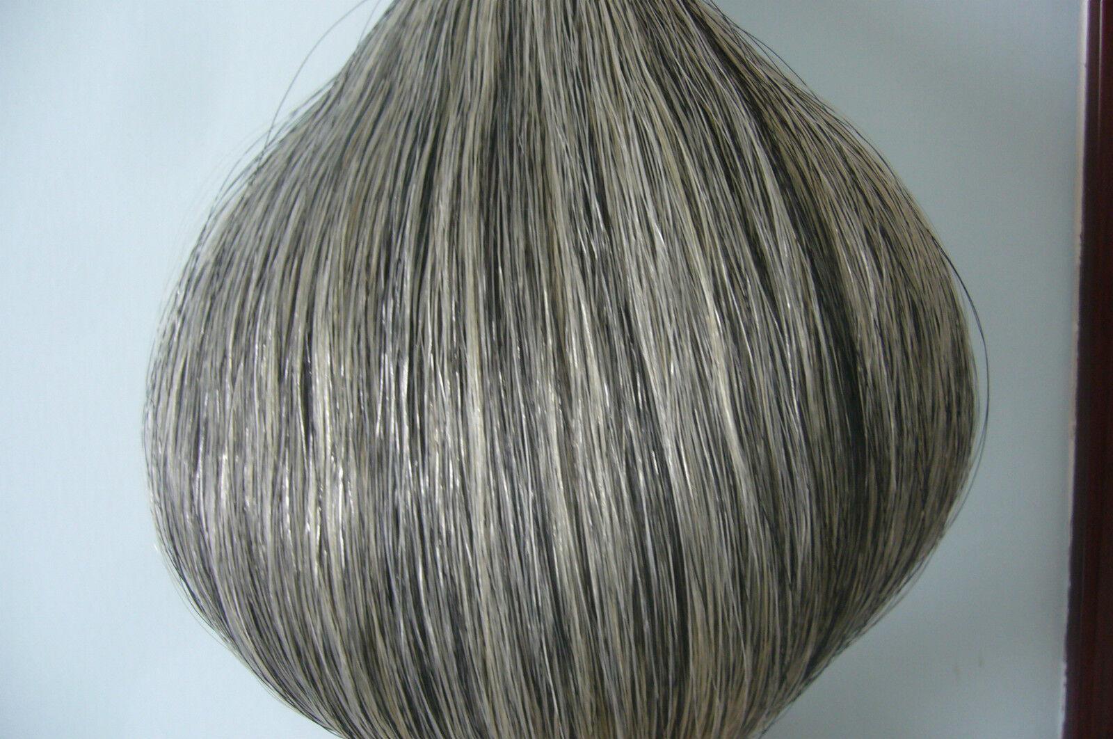 New Light Grey Horse Tail Hair Extension 90cm 1 2 Lb half pound hair