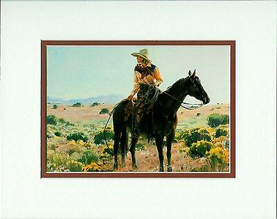 The Skies Are Not Cloudy All Day by Terri Kelly Moyers Cowgirl Western fits 8x10