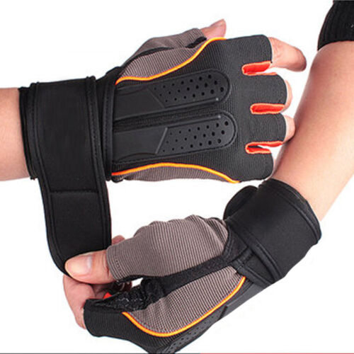Men Gloves Elastic Absorb Sweat Anti-skid Army Fingerless Tactical Workout Glove