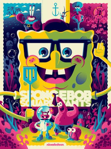 ***SALE*** Spongebob Squarepants VARIANT Screen print Tom Whalen MONDO SOLD OUT