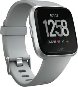 Fitbit Versa Smart Watch - Grey Silver Aluminum 4124451
