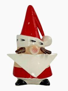 Vintage RARE Napco 1950s Santa Gnome Card or Napkin Holder Japan  PX3121