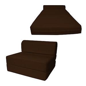 Details about Brown 6 x 36 x 70 Twin Sleeper Chair Folding Foam Bed, Foam  Density 1.8 lbs