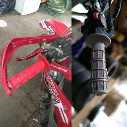 Rubber Hand Grip For Suzuki DR125 DR200 DR250 DR350 DR600 DR650R DR750 DR800 Red