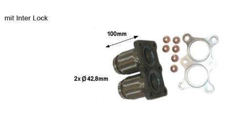 98-10 Reparaturrohr // Flexrohr mit Flansch für VW 2.0  Bj SKODA