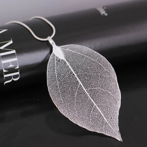 Creative-Jewelry-Leaves-Leaf-Pendant-Sweater-Chain-Necklace-For-Women-LD