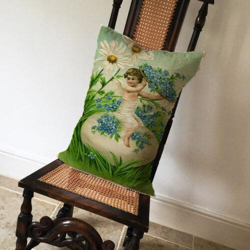 Vintage flower fairy-long housses de coussin oreiller cas home decor ou intérieure