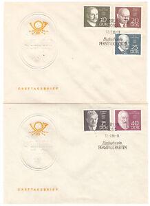 DDR-FDC-Bedeutende-Persoenlichkeiten-MiNr-1386-1390-ESSt-Berlin-17-07-1968