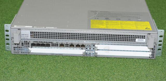 CISCO ASR1002 ASR1002-5G/K9 W/ ASR1000-ESP5 PROCESSOR & Dual ASR1002-PWR-DC