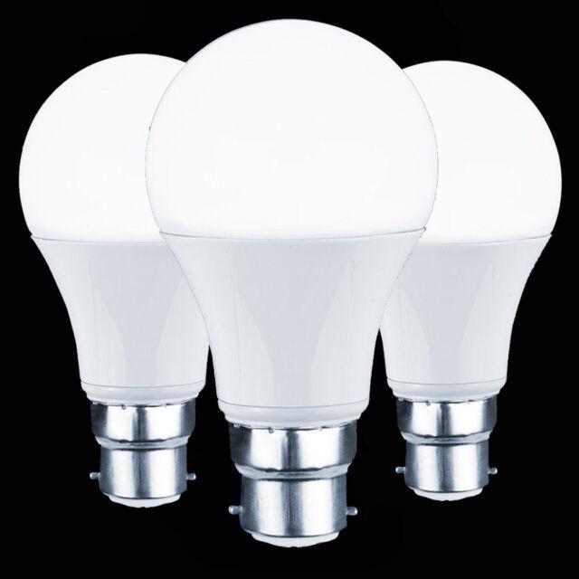 2 X LED 10W BC B27 GLS Light Bulb Energy Saving Lamp Warm Day White Globe A+