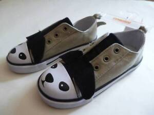 GYMBOREE-Denim-amp-Tees-Tan-Beige-Dog-Face-Ears-Shoes-Toddler-Size-5-6-NEW