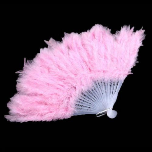 1Pcs Fluffy Burlesque Wedding Showgirl Hand Fancy Costume Dance Feather Fan ed