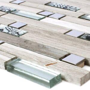 Mosaikfliesen-Metall-Glas-Naturstein-Grau-Silber-Mix