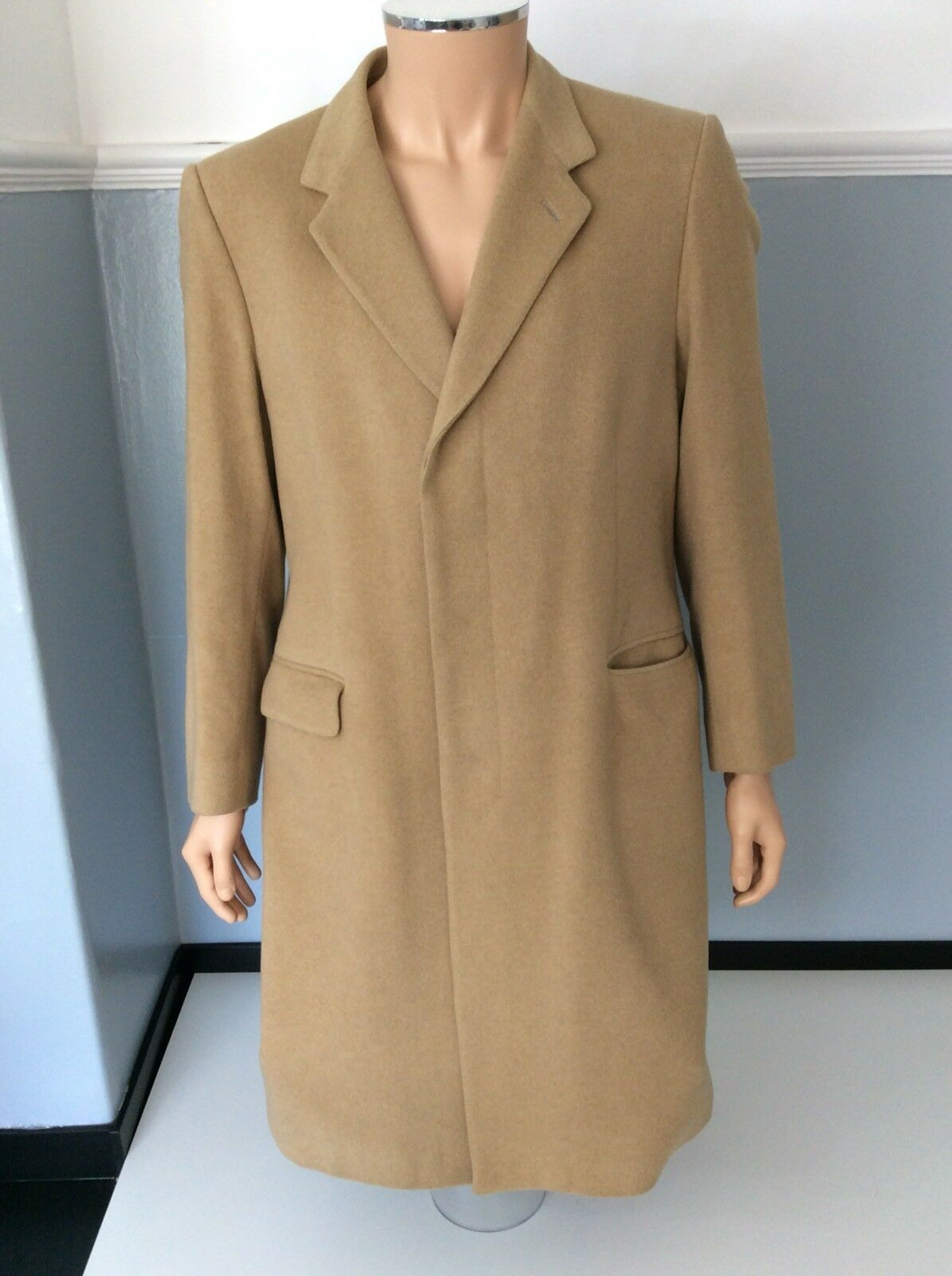 """Berwin  Herren 100% Cashmere Wool Coat, Größe Medium, 40"""" Chest, Immaculate"""