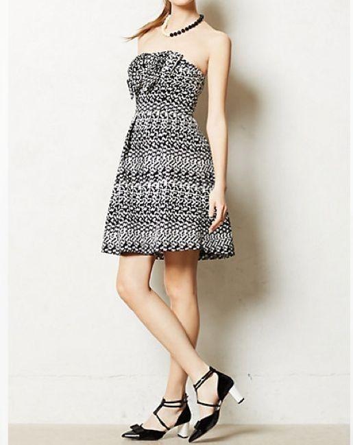 NWT Eva Franco Anthropologie Tinseled Jacquard Dress Size 0