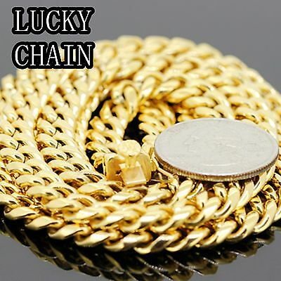 """STAINLESS STEEL GOLD MIAMI CUBAN LINK CHAIN NECKLACE 36/""""x 8mm 110g IB72"""