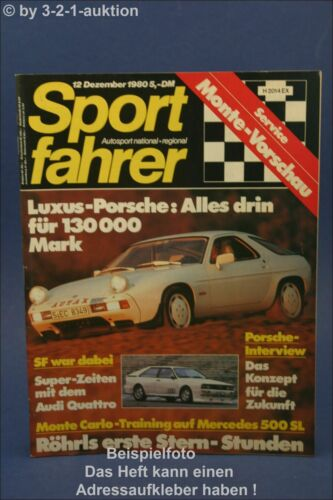 Sportfahrer 12//80 Gemballa 928 S Jaguar XJS Audi Quattr