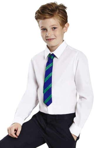 Ex BHS Boys School shirt Twin-Pack Bleu ciel à manches courtes NON IRON Ages 4-16