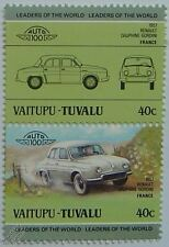 1957 RENAULT DAUPHINE-GORDINI Car Stamps (Leaders of the World / Auto 100)