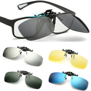 599475756d Polarized Clip On Flip Up Sunglasses Shades Clip for Myopia Glasses ...