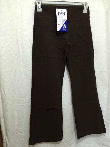 BNWT Girls Sz 14Y Choc Brown Stretch Bootleg LW Reid School Uniform Long Pants