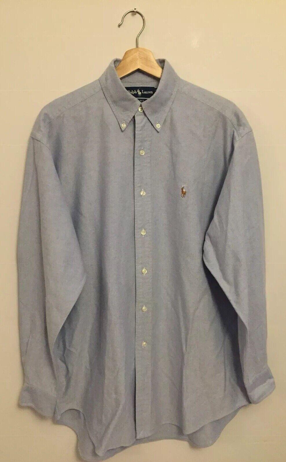Men's Ralph Lauren Long Sleeve Shirt Light bluee Size Medium