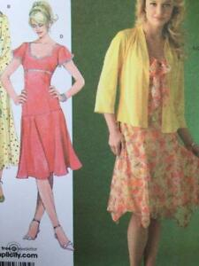 Simplicity-Sewing-Pattern-4168-Misses-Ladies-Caridgan-amp-Lined-Dress-Size-6-14-UC