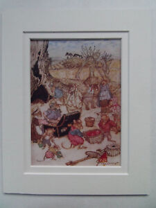 WIND-IN-THE-WILLOWS-RACKHAM-ARTHUR-VINTAGE-PRINT-c1964-DOUBLE-MOUNT-10in-x-8in