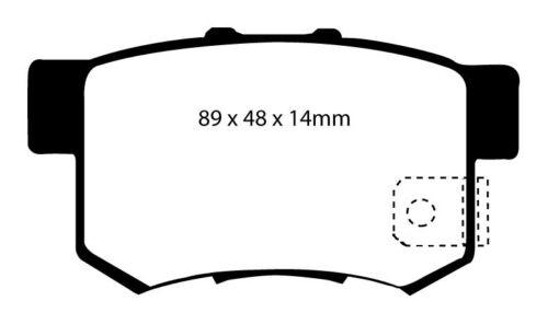 EBC Greenstuff Sportbremsbeläge Hinterachse DP21193 für MG MG ZS