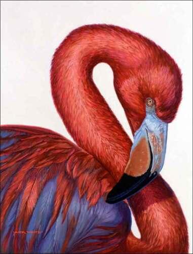 Ceramic Accent /& Decor Tile White Flamingo Bird Wildlife Art JWA005AT