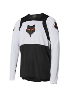 Blk//Wht//Org Fox Head Cycling Flexair Long Sleeve Gothik Jersey Size M