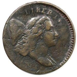 1794 Liberty Cap Half Cent C3a Small Edge Letters R5 G5 - F+ Details Lt Corosion
