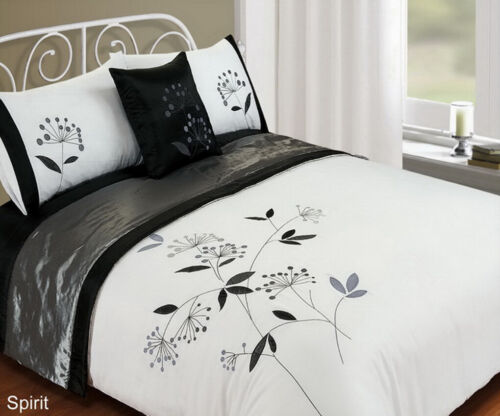 Double /& King Size 5 Piece Bed in a Bag Bedding Duvet Quilt Cover Set