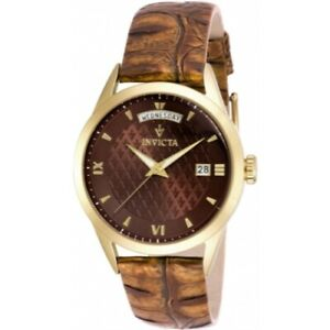 Invicta-18471-Vintage-Quartz-Day-Date-Brown-Leather-Strap-Mens-Watch