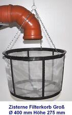 Filterkorb groß Zisterne Wasserfilter für Wassertanks 40 cm Durchmesser Neu