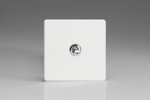 Varilight 1 Gang 10 A Intermédiaire Bascule Interrupteur De Lumière Screwless Premium Blanc