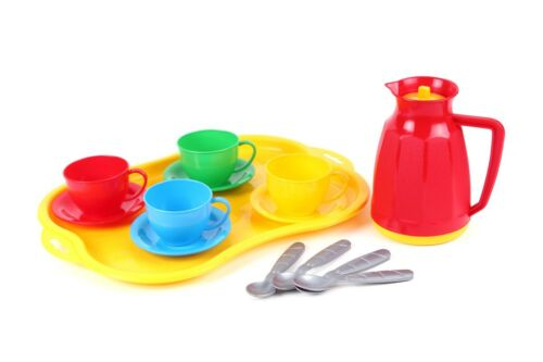 Children/'s Kids Play Kitchen Cooking Plates Cutlery Toy Tea Set