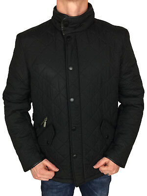 Barbour International Mens Powell Quilted Jacket In Black