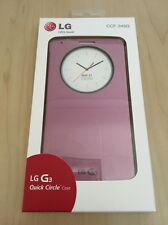 Genuine LG G3 Quick Circle Snap On Flip Case Cover