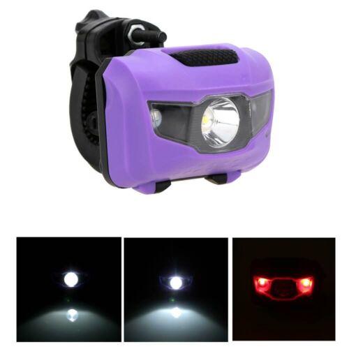 Bike R3 2 LED Mini Flashlight 4 Mode Super Bright Headlights Lamp Taillights