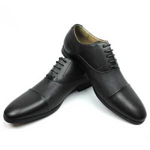 New Mens Dress Shoes Cap Toe 2 Tone Herringbone Lace Up Oxford By AZAR MAN