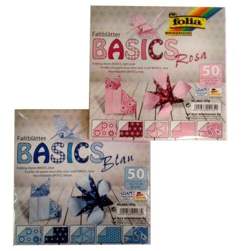 Set mit Mustern 100 Blatt 15x15cm 80g//m² BASICS Faltblätter Origami