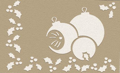 E-037 Embossingschablone Prägeschablone Metallschablone Weihnachtskugeln
