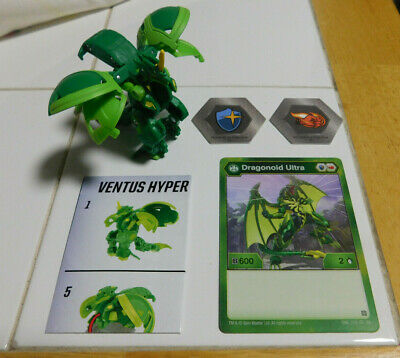 BAKUGAN Battle Brawlers Planet  ULTRA VENTUS PANDOXX B600 2 BAKUCORE /& CARD