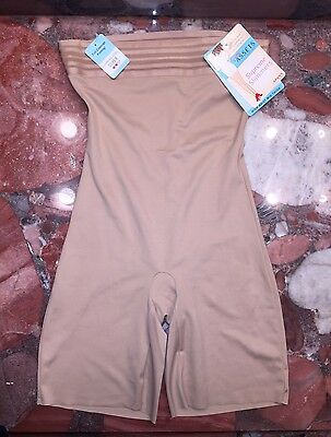 NWT Spanx Assets Nude High Waist Mid-thigh Slimming Bodysuit Shapewear Women's