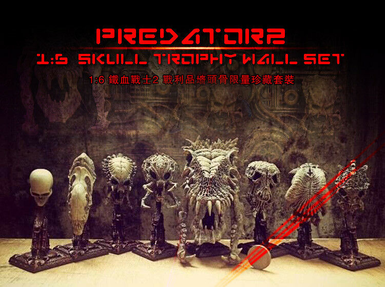 FOR hottoys 1 6 6 6 Predator   Alien Bone a set of 8 1c2652