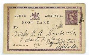 South Australia Goolwa Adelaide Entiers Postaux 1902 {samwells Couvre -} Cw165-covers} Cw165afficher Le Titre D'origine