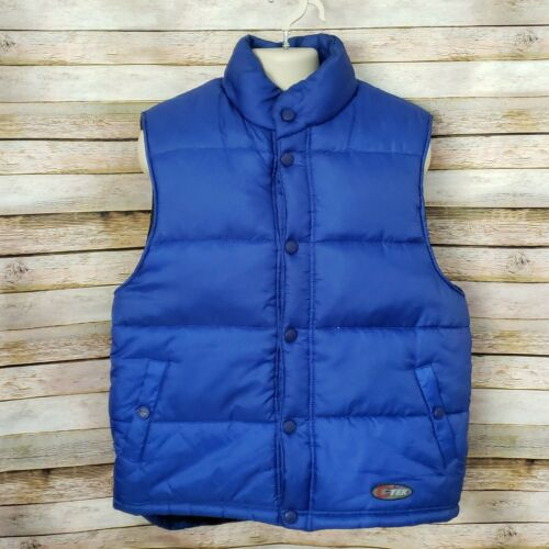 Mens Catalina Blue Goose Down Vest Size Large Snap