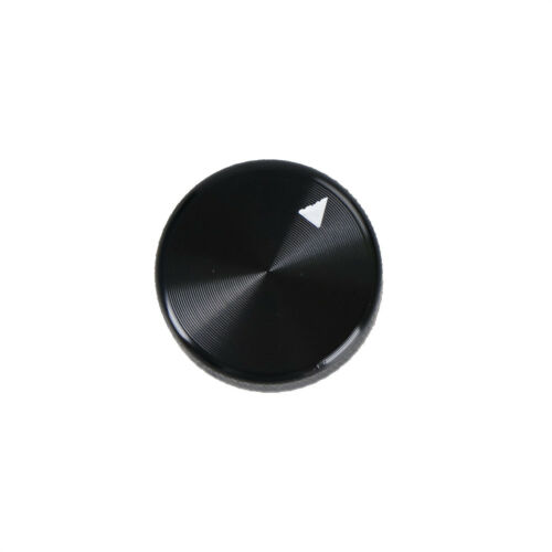 Dia Black Aluminum Rotary Control Potentiometer Knob 20mm x 15.5mm FO